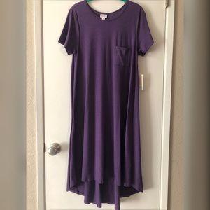 LuLaRoe Solid Purple Carly Dress Size Medium - NWT
